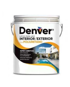DENVER LATEX EXT.INT.c/POLIURETANO 10 L