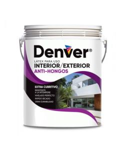 DENVER LÁTEX EXTERIOR INTERIOR ANTI-HONGO 20 LITROS